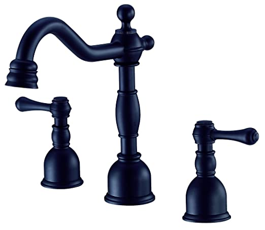 Danze D303157BS Opulence Two Handle Mini-Widespread Lavatory Faucet, Black Satin