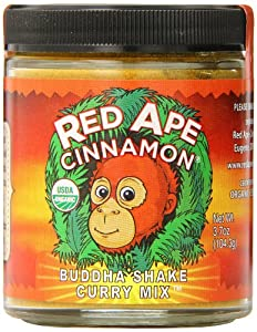 Red Ape Cinnamon Curry Mix, Buddha Shake, 3.7 Ounce