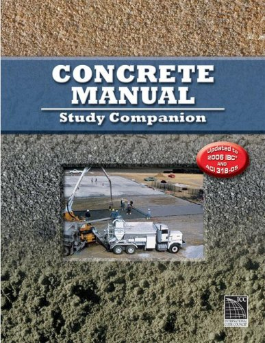 Concrete Manual Study Companion Workbook - ICC (distributed by Cengage Learning) - IC-9093S06 - ISBN: 1580015026 - ISBN-13: 9781580015028