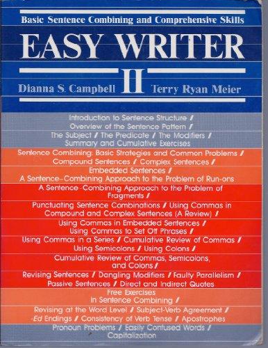 Easy Writer II: Basic Sentence Combining and Comprehensive Skills PDF