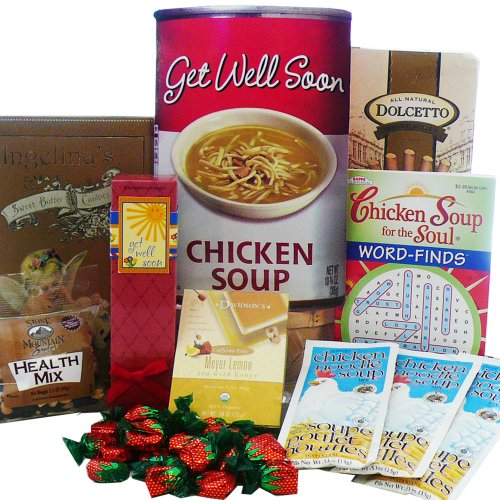 Chicken Soup For The Soul Get Well Gift Bag Tote - Gourmet Food Gift Basket