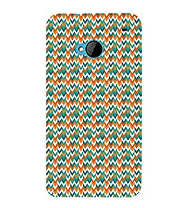 Down Arrow Mix Chevron 3D Hard Polycarbonate Designer Back Case Cover for HTC One M7 :: HTC M7