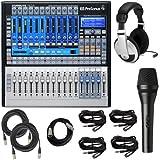 PreSonus StudioLive 16.0.2 Audio Mixing Console Bundle w Microphone Headphones Cables