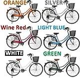 オリジナル自転車 軽快車(ママチャリ) ダイナモライト シマノ外装6段 ギア26インチ