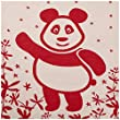 SonnenStrick 100% Organic Cotton Baby Blanket (Panda) Made in Germany Red