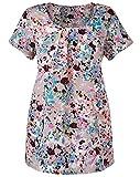 Marisota GREY Short Sleeve Printed Blouse (24)