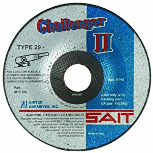 United Abrasives/SAIT 27501 CH II 4-1/2 by 1/8 by 7/8 60X Flexible Type 29 Grinding/Blending Wheel, 25-Pack