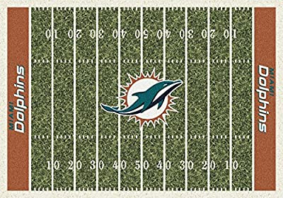 Milliken & Company Miami Dolphins 10-Ft. 9-In. x 13-Ft. 2-In. Homefield Area Rug