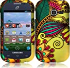 Samsung S738c S738 c Galaxy Centura Straight Talk Antique Flower HARD RUBBERIZED CASE SKIN COVER PROTECTOR