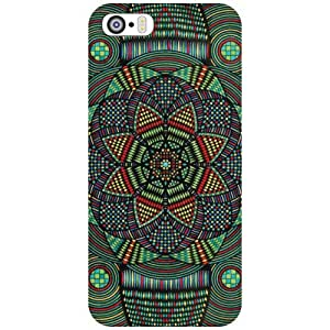 Via flowers Back Cover For Apple iPhone 5S Circle Print Multi Color