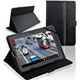 "SQdeal® Classic Black 10 inch Universal Folio PU Leather Stand Case Cover for 10'' 10.1"" Google Android Tablet PC MID"