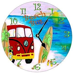 Beach VW Bus Wall Clock