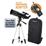 Celestron 22030 Travel Scope 80 Portable Telescope with Smartphone Adapter and Backpack, (Renewed) (Color: Black)