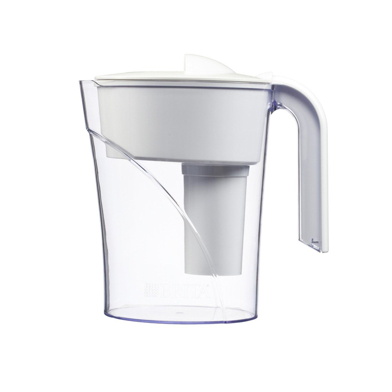 brita 6 cup classic water filter pitcher white new. Black Bedroom Furniture Sets. Home Design Ideas