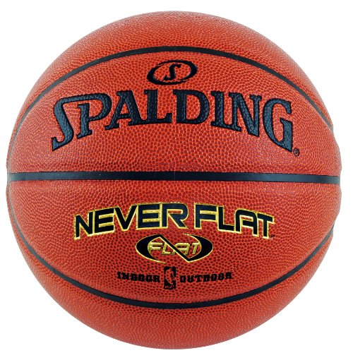 Spalding Never Flat Basketball – Official Size 7 (29.5″)
