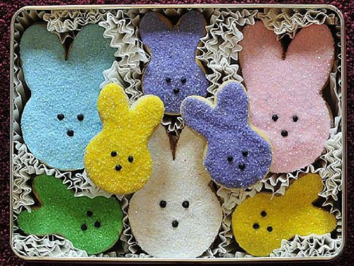 Marshmallow Bunnies Easter Decorated Sugar Cookies Gift