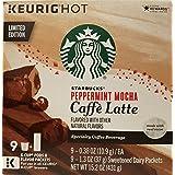 Starbucks Peppermint Mocha Cafe Latte Pods (9 Count package, 15.2 oz)