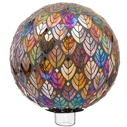 "Evergreen Garden Baroque Splendor Mosaic Glass Gazing Ball - 10""L x 10""W x 10""H"