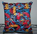 """Superman Pillow Flying Pillow Crime Stopper Super-Man Pillow Man of Steel HANDMADE in USA Pillow is approximately 10"""" X 11"""