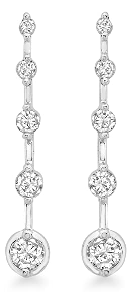 Carissima Gold 9ct White Gold 0.50ct Diamond Drop Earrings
