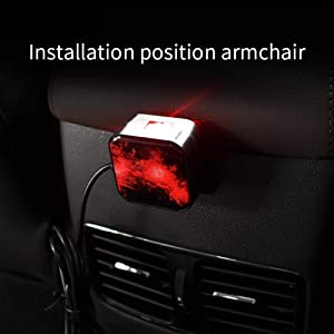 Volwco LED Car Atmospheres Lamp Interior Ambient Star Light USB Romantic Decorative Light for Car//Home//Party