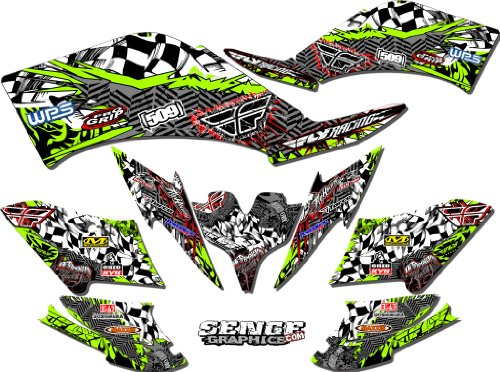 Senge Graphics All Years Kawasaki KFX 400, Fly Green 2012 Graphics Kit (Kawasaki 400 Fenders compare prices)