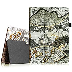 Fintie Apple iPad Air Folio Case - Slim Fit Leather Smart Cover with Auto Sleep / Wake Feature for iPad Air 5 (5th Generation) - Map Design