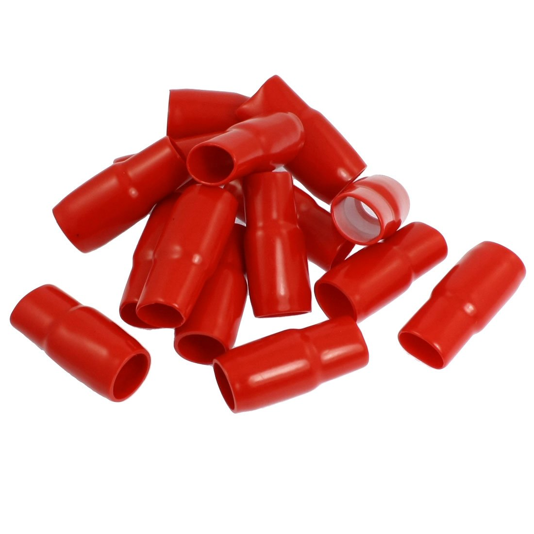 17mm Battery Clips Terminals Boots PVC Insulated Covers Red 15 Pcs