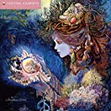 img - for Celestial Journeys by Josephine Wall 2016 Square 12x12 (Glitter Cover) Flame Tree book / textbook / text book