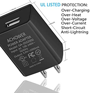 LG Q6//K7 UL Listed S6 S7//Edge Charger for Samsung Galaxy J8 J7 J6 J6+,J5 J4 J4+ J3//J2 J1//Prime//Pro Nexus 6//5 2018 2017 2016 Motorola Moto G5 G4 E4 G5S Plus Charger Cable Cord J7 Sky Pro