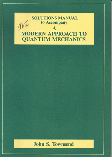 Modern Quantum Mechanics SOLUTIONS