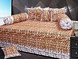 Ab Home Decor 100% Cotton Diwan Sets ( Set Of 8 Pieces ),Brown