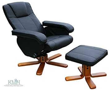 KMH®, Fernsehsessel / Relaxsessel mit Fußhocker (Kunstlederbezug) (#204634)
