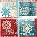 "CoasterStone AS2410 Absorbent Coasters, 4-1/4-Inch, ""Winter Carnival"", Set of 4"