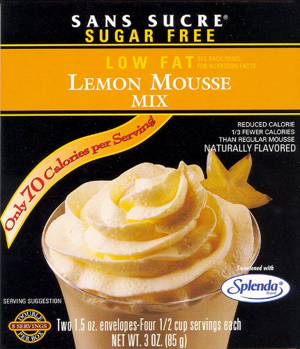 sans sucre lemon mousse mix gluten free one box of 2. Black Bedroom Furniture Sets. Home Design Ideas