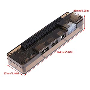 RingBuu PCI-E External Laptop Video Card Dock Station ATX Cable For Mini PCI-E Interface