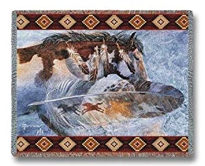 Horsefeathers Throw - 54 x 70 Blanket/Throw