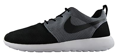 qmiflm Nike Roshe One Mens Black Cool Grey Rosherun Running Shoes - UK 8