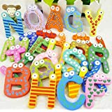 26pcs Letters Fridge Magnet : Baby Toys 26pcs Letters Kids Wooden Alphabet Fridge Magnet Child Educational Toy...