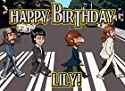 Beatles Abby Road 1/4 Sheet Edible Photo Birthday Cake Topper. ~ Personalized!