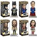 Wacky Wobbler: Batman v Superman: Batman, Superman, Wonder Woman, Aquaman Vinyl Figures! Set of 4