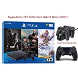 2019 Newest PlayStation 4 Holiday Bundle HESVAP Upgraded 2TB SSHD Only on Playstation PS4 Console Slim Bundle-Included 3X Games (The Last of Us,God of War,Horizon Zero Dawn) with Charging Station Dock