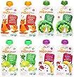Happy Baby Organic Baby Food Stage 2 Variety Bundle: (2) Pumpkin, Apples, Peaches & Cinnamon, (2) Spinach, Apples, Kale, (2) Broccoli, Pears, Peas, (2) Bananas, Beets, Blueberries - 8 Total, 4oz Each
