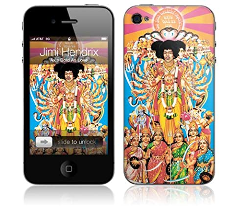 MusicSkins iPhone 4/4S 用保護フィルム Jimi Hendrix - Axis Bold As Love iPhone 4/4S MSIP4G0281