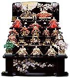 【人形の伏見屋】【雛人形 十五人飾】【雛人形】【五段飾】平安の宴雛 十番親王 三五 十三人飾:千匠作【ひな人形】