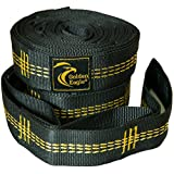 Golden Eagle Hammock Tree Straps Set. Heavy Duty Non-Stretchable Polyester. Premium Product.
