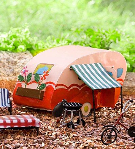 "Miniature Fairy Garden Camper, 10""L, in Pink"