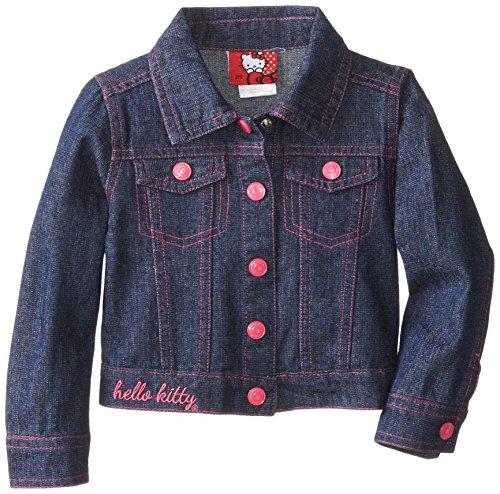 Hello Kitty Little Girls' Sequin Applique Denim Jacket, Dark Indigo, 3T front-896843