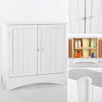 waschbeckenunterschrank mdf holz badschrank waschbeckenschrank unterschrank wei dee18. Black Bedroom Furniture Sets. Home Design Ideas