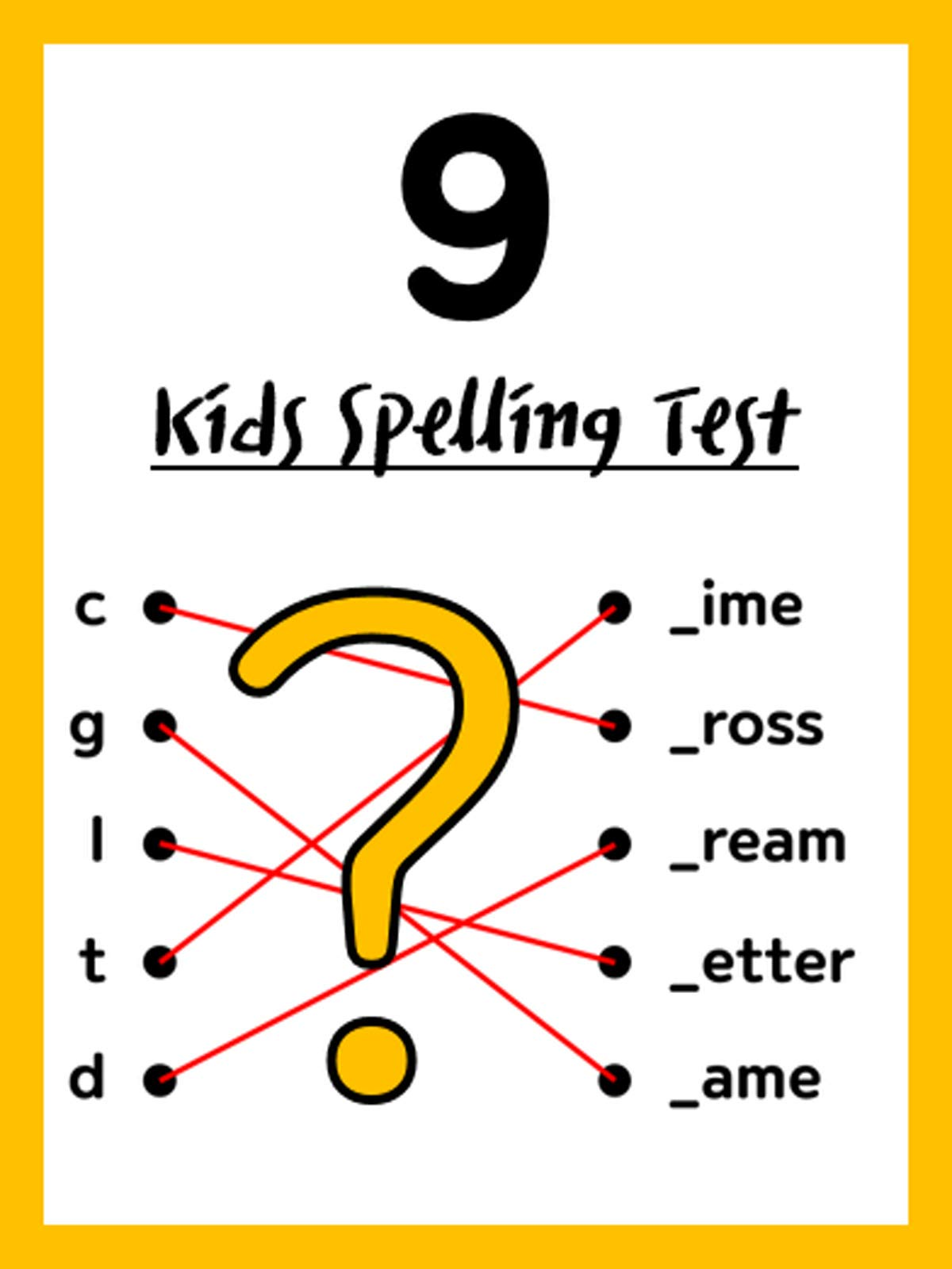 Kids Spelling Test 9